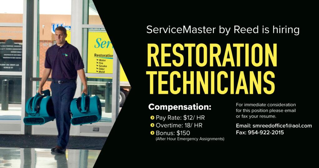 Restoration Technicians – Pt / Ft
